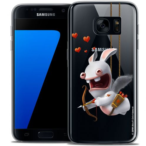 Crystal Galaxy S7 Case Lapins Crétins™ Flying Cupidon