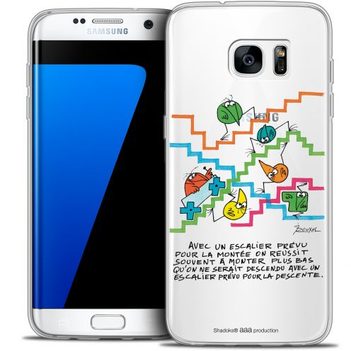 Extra Slim Crystal Galaxy S7 Edge Case Les Shadoks® L'escalier