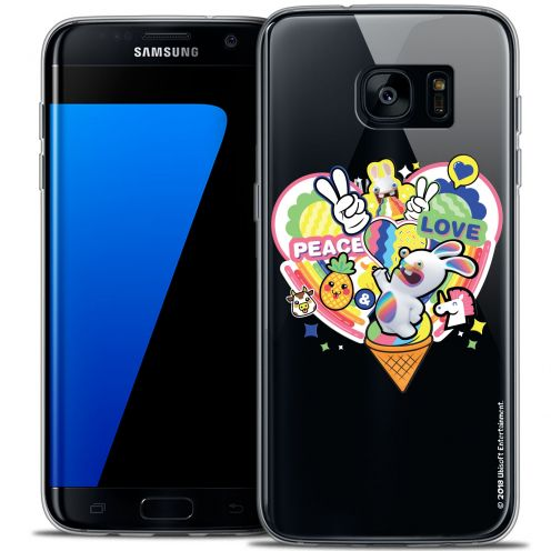 Crystal Galaxy S7 Edge Case Lapins Crétins™ Peace And Love