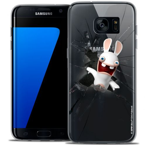 Crystal Galaxy S7 Edge Case Lapins Crétins™ Breaking Glass