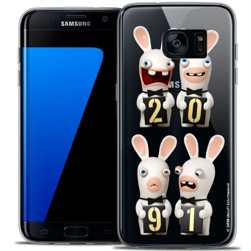 Crystal Galaxy S7 Edge Case Lapins Crétins™ New Year
