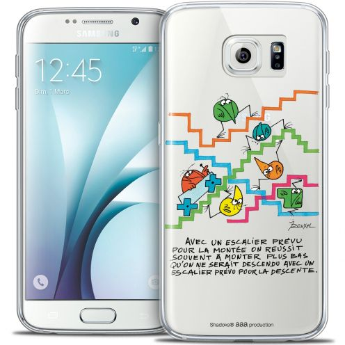 Extra Slim Crystal Galaxy S6 Case Les Shadoks® L'escalier