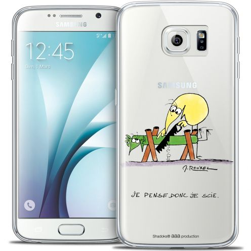Extra Slim Crystal Galaxy S6 Case Les Shadoks® Je pense Donc