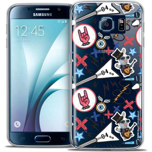 Crystal Galaxy S6 Case Lapins Crétins™ Rock Pattern