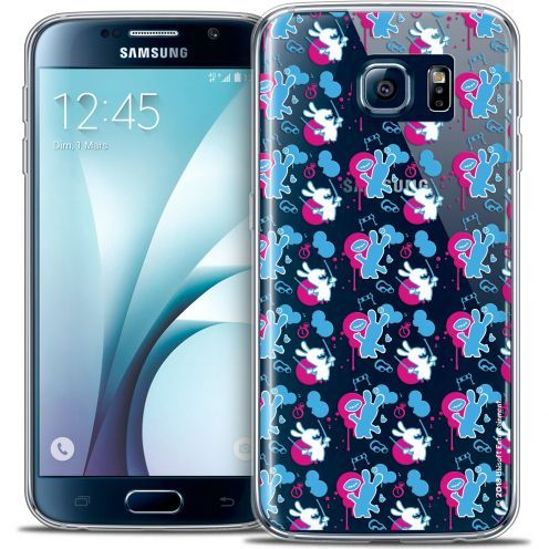 Crystal Galaxy S6 Case Lapins Crétins™ Rugby Pattern