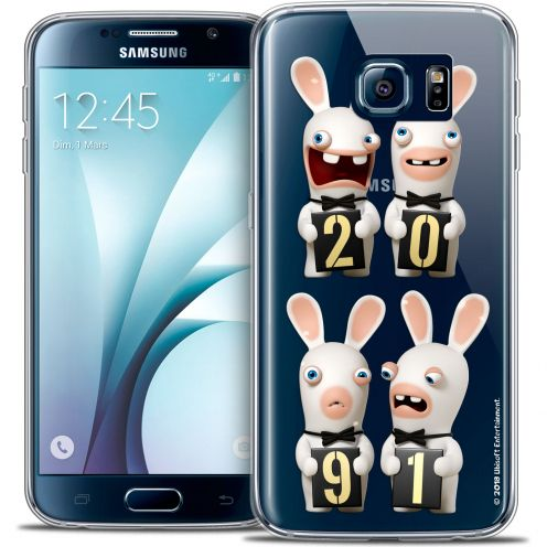 Crystal Galaxy S6 Case Lapins Crétins™ New Year