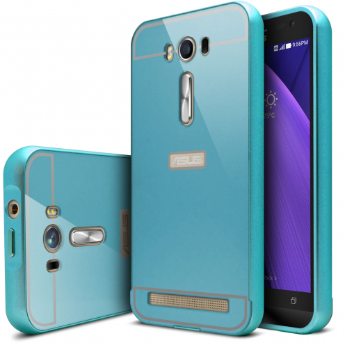 "Asus Zenfone 2 Laser 5.0"" ZE500KL Aluminium Bumper with back window Blue"