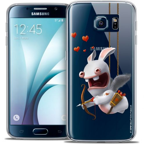 Crystal Galaxy S6 Case Lapins Crétins™ Flying Cupidon