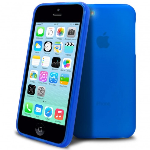 Frozen Ice Extra Slim Navy Blue soft case for Apple iPhone 5C