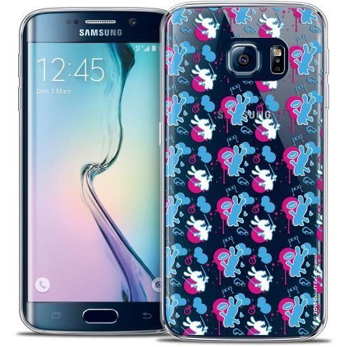 Crystal Galaxy S6 Edge Case Lapins Crétins™ Rugby Pattern
