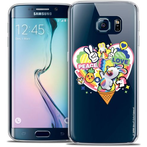 Crystal Galaxy S6 Edge Case Lapins Crétins™ Peace And Love