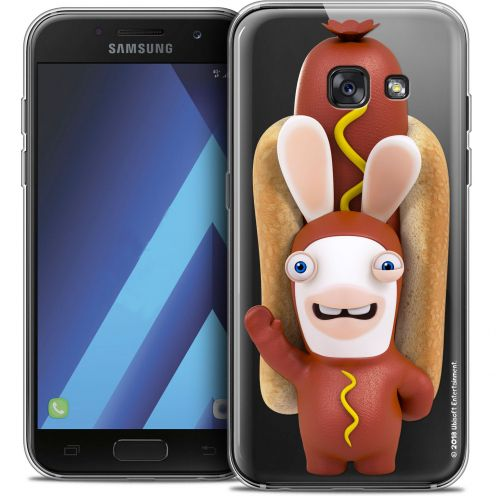 "Crystal Gel Samsung Galaxy A7 2017 A700 (5.7"") Case Lapins Crétins™ Hot Dog Crétin"