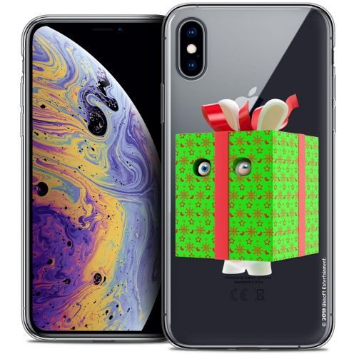 Crystal Gel Apple iPhone X (10) Case Lapins Crétins™ Lapin Surprise Vert