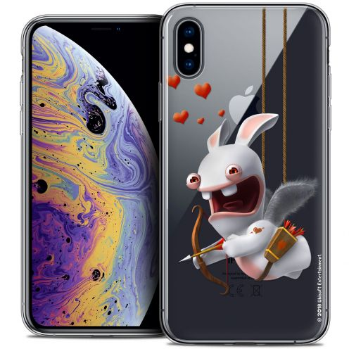 Crystal Gel Apple iPhone X (10) Case Lapins Crétins™ Flying Cupidon