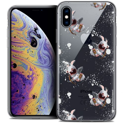 Crystal Gel Apple iPhone X (10) Case Lapins Crétins™ Cupidon Pattern