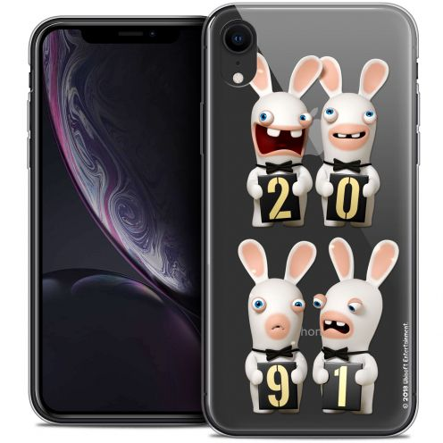 """Crystal Gel Apple iPhone Xr (6.1"""") Case Lapins Crétins™ New Year"""