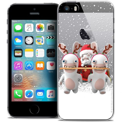Crystal iPhone 5/5s/SE Case Lapins Crétins™ Lapin Traineau