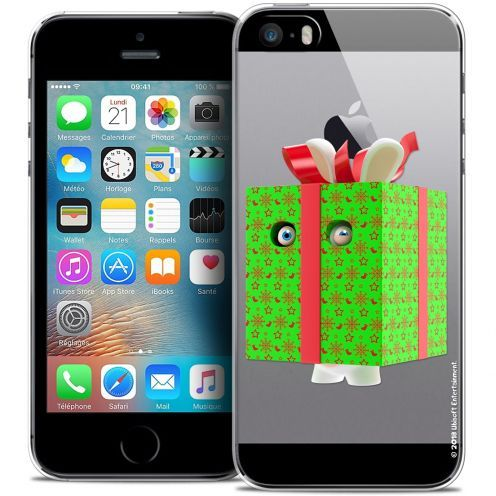 Crystal iPhone 5/5s/SE Case Lapins Crétins™ Lapin Surprise Vert