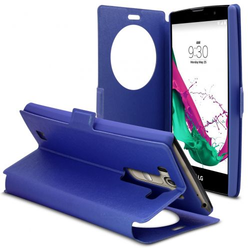LG G4s / Mini Papyrus Stand Slim Folio Case - WindowView - Nigh Blue
