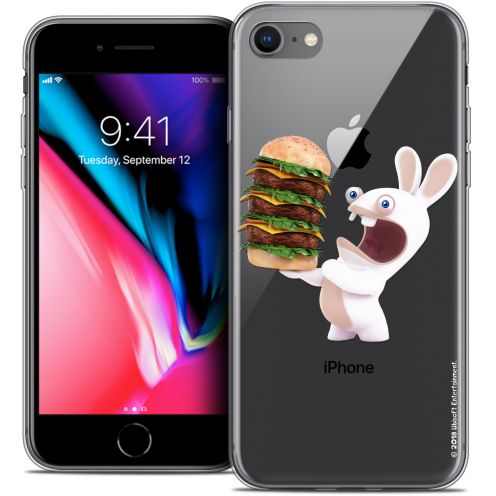 "Crystal Gel Apple iPhone 7 (4.7"") Case Lapins Crétins™ Burger Crétin"