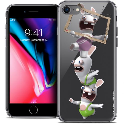"Crystal Gel Apple iPhone 7 (4.7"") Case Lapins Crétins™ TV Sport"