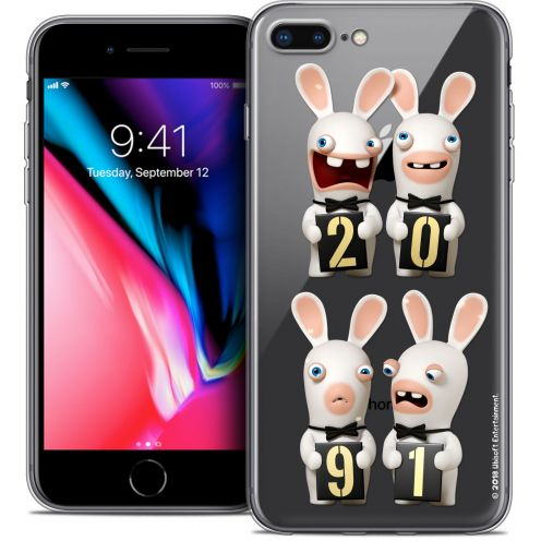 """Crystal Gel Apple iPhone 8 Plus (5.5"""") Case Lapins Crétins™ New Year"""