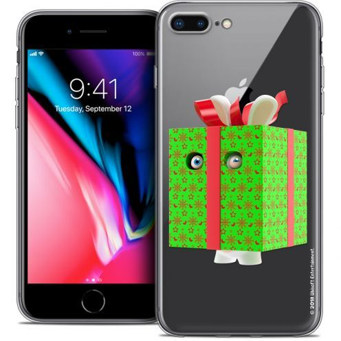 "Crystal Gel Apple iPhone 8 Plus (5.5"") Case Lapins Crétins™ Lapin Surprise Vert"