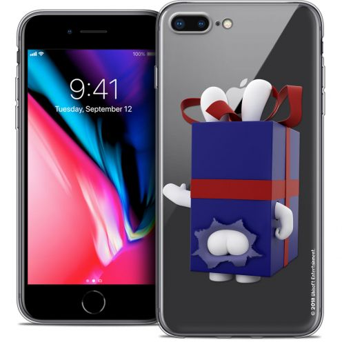 "Crystal Gel Apple iPhone 8 Plus (5.5"") Case Lapins Crétins™ Lapin Surprise Bleu"