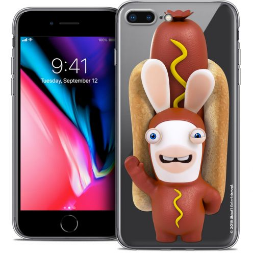 "Crystal Gel Apple iPhone 8 Plus (5.5"") Case Lapins Crétins™ Hot Dog Crétin"