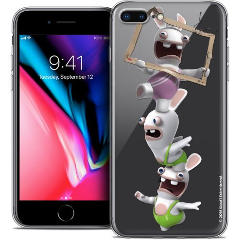 "Crystal Gel Apple iPhone 8 Plus (5.5"") Case Lapins Crétins™ TV Sport"