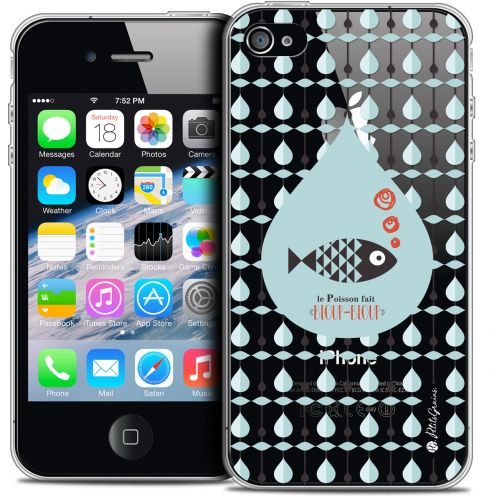 Extra Slim Crystal iPhone 4/4s Case Petits Grains® Le Poisson