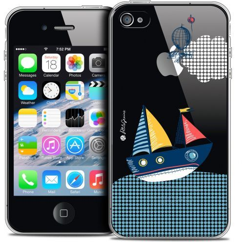Extra Slim Crystal iPhone 4/4s Case Petits Grains® MVE Le Bateau