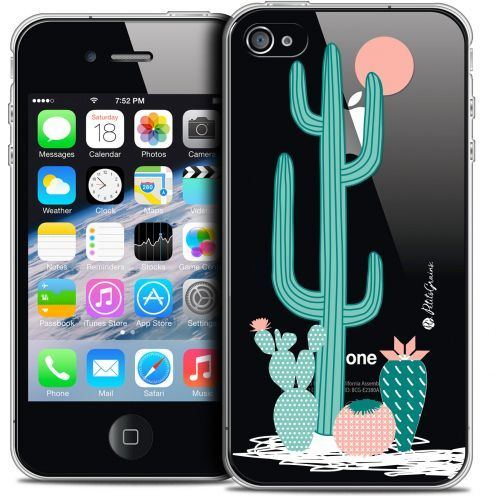 Extra Slim Crystal iPhone 4/4s Case Petits Grains® A l'Ombre des Cactus