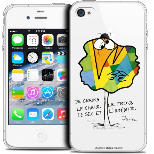 Extra Slim Crystal iPhone 4/4s Case Les Shadoks® Chaud ou Froid