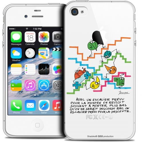 Extra Slim Crystal iPhone 4/4s Case Les Shadoks® L'escalier