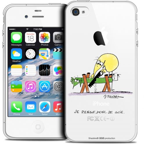 Extra Slim Crystal iPhone 4/4s Case Les Shadoks® Je pense Donc