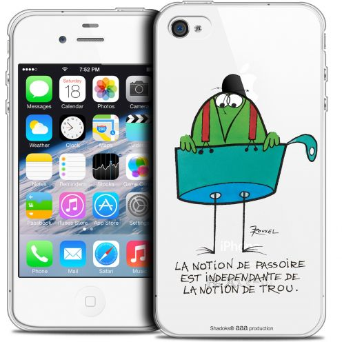 Extra Slim Crystal iPhone 4/4s Case Les Shadoks® La Passoire