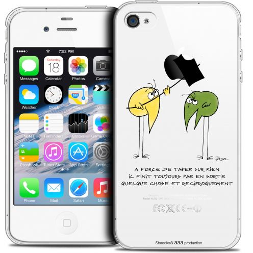 Extra Slim Crystal iPhone 4/4s Case Les Shadoks® A Force