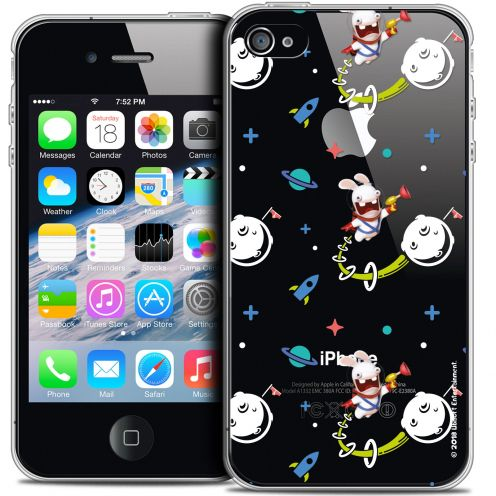 Crystal iPhone 4/4s Case Lapins Crétins™ Space 2
