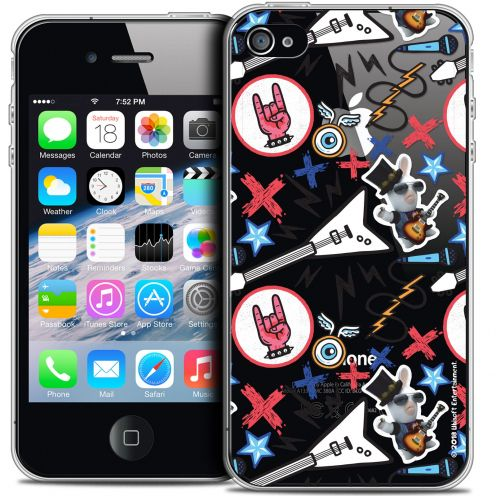 Crystal iPhone 4/4s Case Lapins Crétins™ Rock Pattern