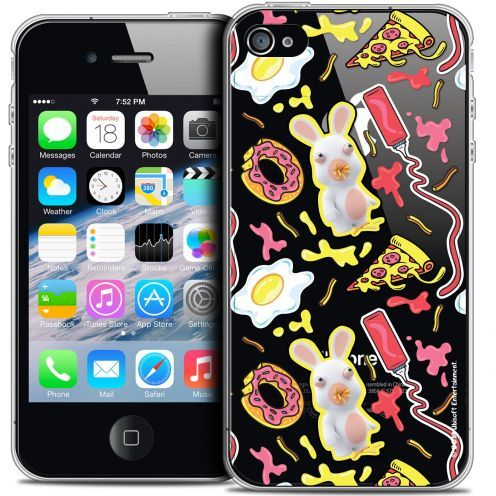 Crystal iPhone 4/4s Case Lapins Crétins™ Egg Pattern