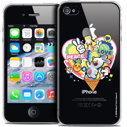 Crystal iPhone 4/4s Case Lapins Crétins™ Peace And Love