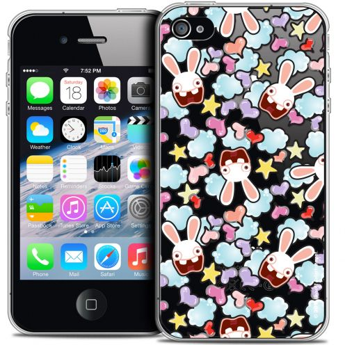 Crystal iPhone 4/4s Case Lapins Crétins™ Love Pattern