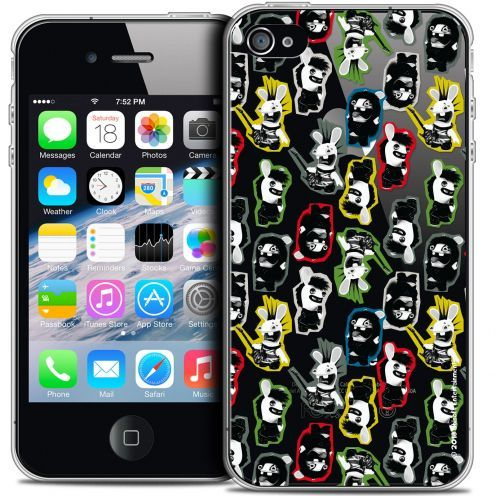 Crystal iPhone 4/4s Case Lapins Crétins™ Punk Pattern