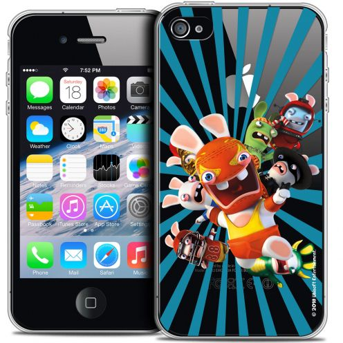 Crystal iPhone 4/4s Case Lapins Crétins™ Super Heros