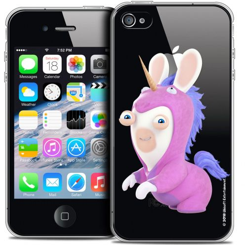 Crystal iPhone 4/4s Case Lapins Crétins™ Licorne