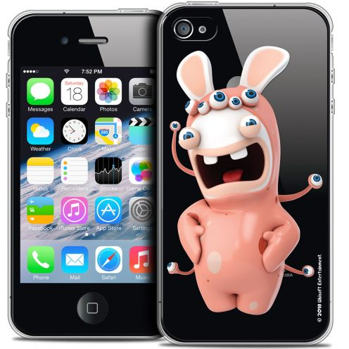 Crystal iPhone 4/4s Case Lapins Crétins™ Extraterrestre
