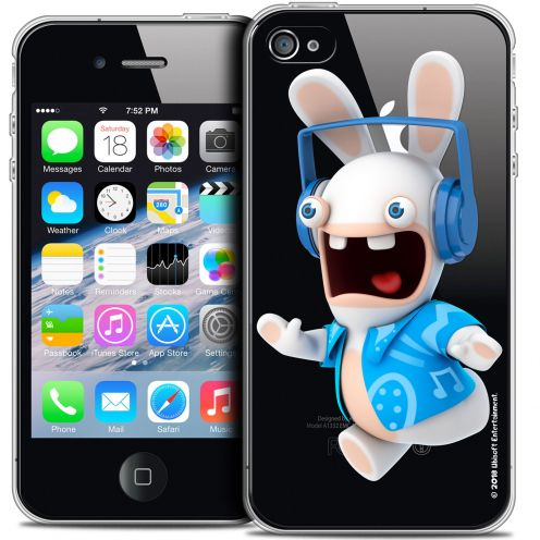 Crystal iPhone 4/4s Case Lapins Crétins™ Techno Lapin