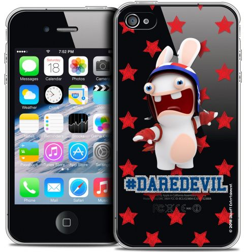 Crystal iPhone 4/4s Case Lapins Crétins™ Dare Devil