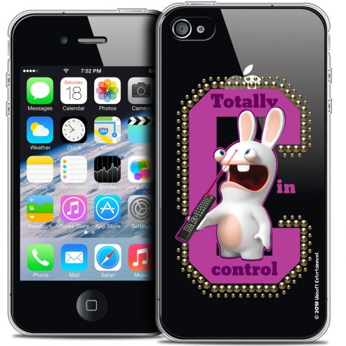 Crystal iPhone 4/4s Case Lapins Crétins™ In Control !